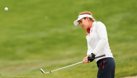 Hannah O'Sullivan during the U.S. Women's Open first round <br>(USGA Photo)</br>