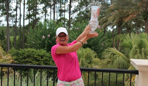Kaeli Jones celebrates first FSGA championship <br>(FSGA Photo)</br>