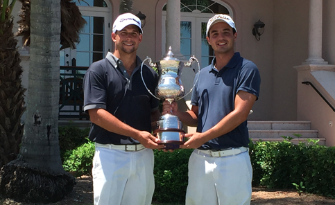Christopher Carlin and Nicolas Cavero after FSGA Four-Ball win <br>(FSGA Photo)</br>