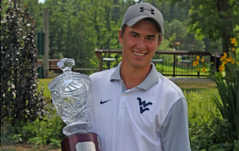 Max Sear with Ontario Amateur trophy <br>(Golf Association of Ontario)</br>