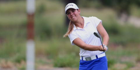 Kristen Gillman chips during the Women's North & South Amateur in Pinehurst <br>(Photo by Thomas Toohey Brown)</br>
