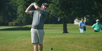 36-hole leader Austin Zoller on Friday <br>(Carolinas Amateur Photo)</br>