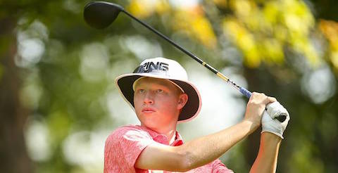 Travis Vick during first day of U.S. Junior Amateur <br>(USGA Photo)</br>