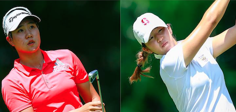 Eun Jeong Seong (L) and Andrea Lee (R) will match up tomorrow <br>(USGA Photo)</br>