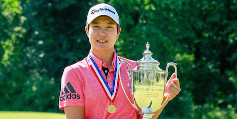 Eun Jeong Seong made sure the trophy didn't change hands this year <br>(USGA Photo)</br>