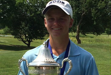 Blake Allen after Kansas Boys Junior Amateur victory <br>(KGA Photo)</br>