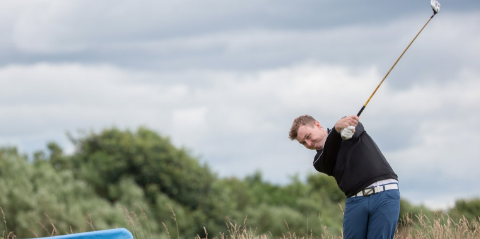 Graeme Robertson on the 15th hole <br>(Scottish Golf Union/Kenny Smith Photo)</br>
