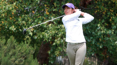 Sabrina Iqbal watches a shot on Friday at the California Women's Amateur <br>(NCGA Photo)</br>