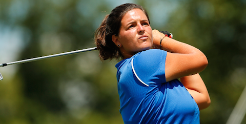 Maria Torres during Round of 16 play <br>(USGA Photo)</br>