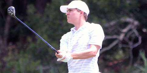 Carson Young watches a shot during his SC Amateur third round <br>(SCGA Photo)</br>