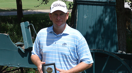 Danny Simmerman with Texas South trophy <br>(TXGA Photo)</br>