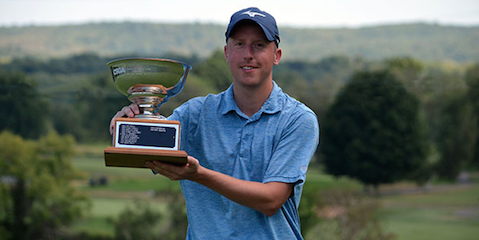 Kyle Nolin after his first Connecticut Public Links title <br>(CSGA Photo)</br>
