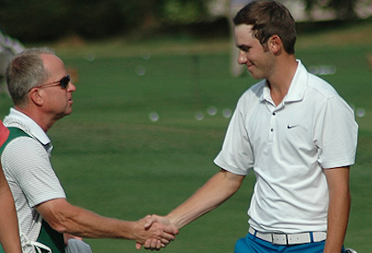 Chase Carlson after opening 6-under 66 <br>(WA State Golf Association)</br>