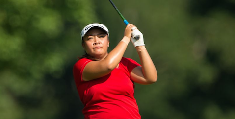 Mariel Galdiano tees off second hole <br>(PGA of America Photo)</br>