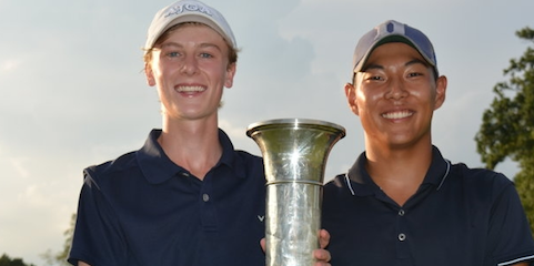 Evan Quinn (L) and Justin Chae <br>(NJSGA Photo)</br>