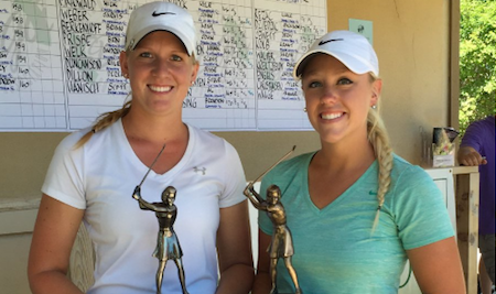 Champion Megan Mingo (R) and runner-up Hallie Getz <br>(South Dakota Golf Association Photo)</br>