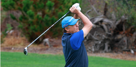Randy Haag on Thursday at NCGA Senior Match Play <br>(NCGA Photo)