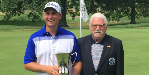 Sam O'Dell (L) after West Virginia Mid-Amateur victory <br>(WVGA Photo)