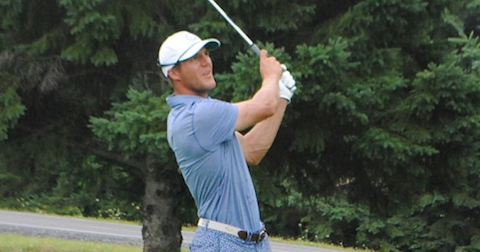 Garrett Rank during third round of the Canadian Mid-Amateur <br>(Taylor Craig/ Golf Canada Photo)