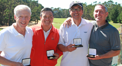 From left to right John Broadhurst, Fernando Delmendo, James Lee, Ted Price <br>(NCGA Photo)