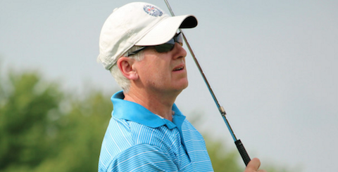 David Schultz during the Canadian Senior Amateur <br>(Herb Fung/ Golf Canada Photo)