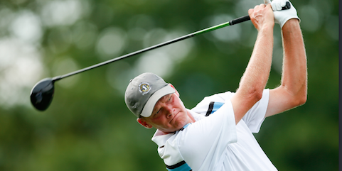 Scott Harvey on day one of the U.S. Mid-Amateur <br>(USGA Photo)