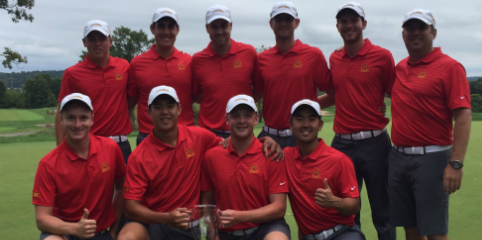 Iowa State celebrates Badger Invitational victory <br>(Iowa State Athletics Photo)