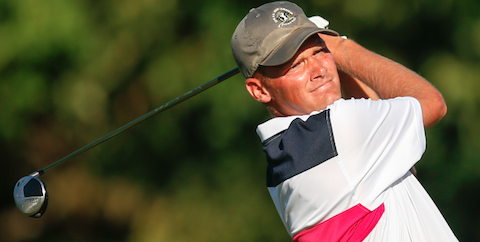 Scott Harvey during his U.S. Mid-Amateur quarterfinal match <br>(USGA Photo)