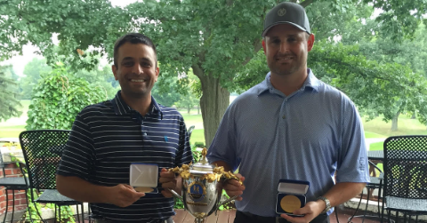 Kyle Nathan (L) and John Hunter (R) after John R. Williams Four-Ball Invitational title