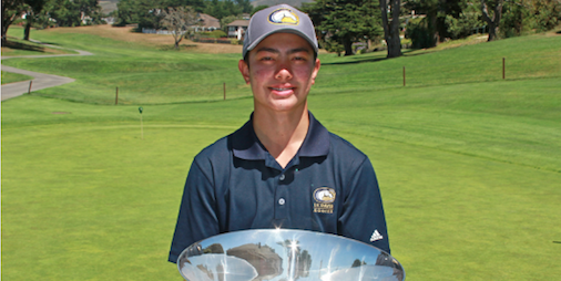 Thomas Hutchison after NCGA Junior Championship <br>(NCGA Photo)