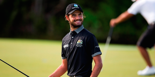 U.S. Mid-Amateur champion Curtis Luck is all smiles<br> as his Team Australia takes lead <br>(International Golf Federation)