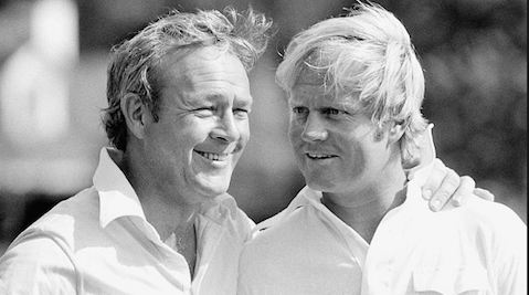 Arnold Palmer and his fiercest rival Jack Nicklaus <br>(Golfweek Photo)
