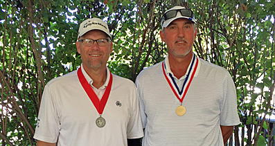 Runner-up Rick Dusek (R) and Jay Muller (L) <br>(Nebraska Golf Association Photo)
