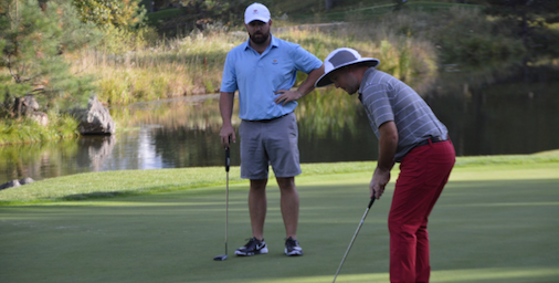 Ben Blundell and Jordan Cook during first round of Trans-Miss Four-Ball <br>(Trans-Miss Photo)