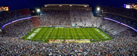 The 107,000 seat Beaver Stadium <br>(Penn State Athletics Photo)