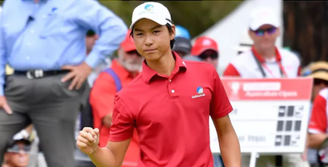 Min Woo Lee on day three of the Australian Open <br>(Golf Australia Photo)