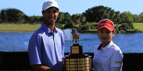 Champions Jacob Bergeron (L) and Hye-Jin Choi (R) <br>(AJGA Photo)