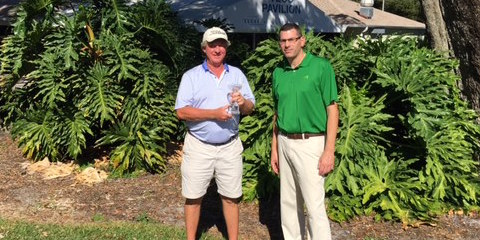 Winner Kavin Macy (L) Paul Edelstein, Director of Golf (R) <br>(Photo Courtesy of Paul Edelstein)
