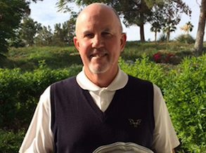 Jeff Burda with SCGA Senior Tournament of Club Champions trophy <br>(SCGA Photo)