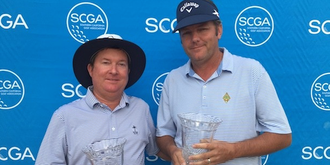 SCGA Stableford winner Jeffrey Fortson and Robbie Foster <br>(SCGA Photo)