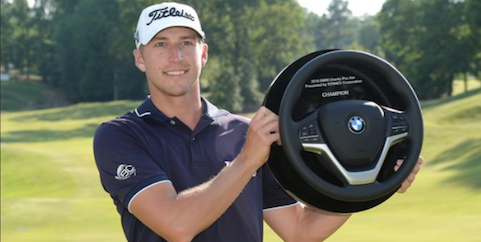 Richy Werenski after his Web.com Tour BMW Charity Pro-Am victory <br>(Web.com Tour Photo)