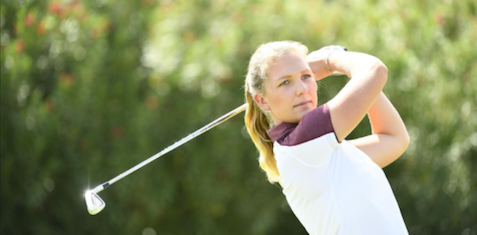Linnea Strom of Arizona State is only two shots back <br>(Arizona State Athletics Photo)