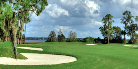 Lake Hamilton sits in the background of the  Country Club of Winter Haven <br>(Florida Golf Magazine Photo)