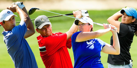 From L-R: Stewart Hagestad, Scott Harvey, Meghan Stasi and Julia Potter <br>(USGA Photo)