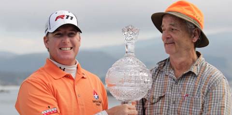 D.A. Points and Bill Murray after 2011 AT&T Pebble Beach Pro-Am <br>(Golfweek Photo)