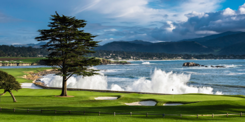The 18th hole at Pebble Beach <br>(Pebble Beach Photo)