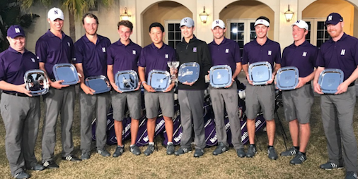 Big 10 Match Play winning Northwestern Wildcats <br>(Northwestern Athletics Photo)