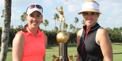 Charlotte Daughan and Katie Miller defend <br>Women's International Four-Ball title <br>(FSGA Photo)