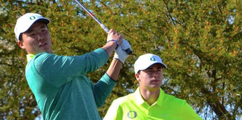 Oregon freshman Norman Xiong (pictured) and senior <br>Wyndham Clark shared medalist honors <br>(Oregon Athletics Photo)