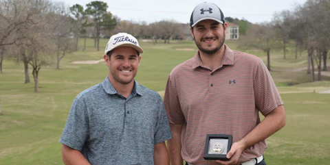 Texas South Four-Ball winners Grant Schroeder (L) and Sam Hochhauser (R) <br>(TXGA Photo)